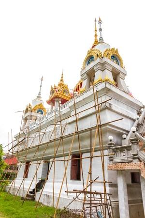 The renovation Wat Pranangsang, Phuket, Thailand. photo