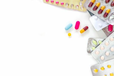 La medicina farmacia médica sobre fondo blanco para decorar y diseño de proyectos. Foto de archivo - 40835566