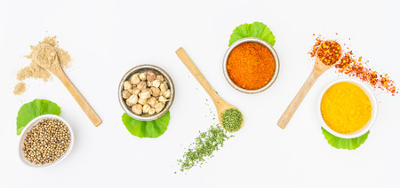 barberry: Mix spices on white background for decorate project. Stock Photo