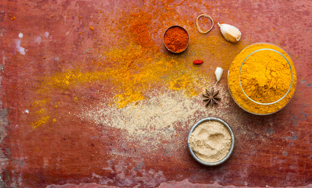 indian spices: Spices and herbs.Food and cuisine ingredients for decorate design project.