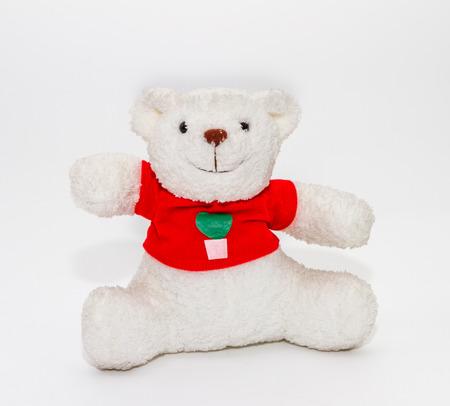 Bruine teddybeer op een witte achtergrond voor versieren ontwerp project.
