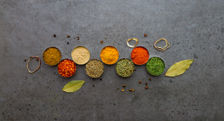Spices mix selection background for decorate design project Imagens - 41438668