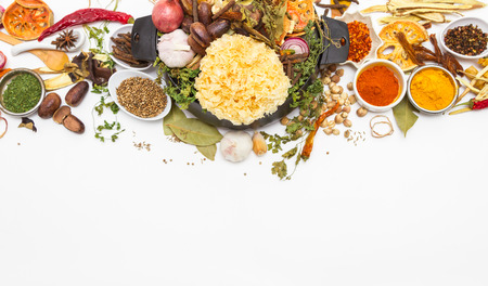 badian: Spices,herbs,food and cuisine ingredients background for decorate design project. Stock Photo
