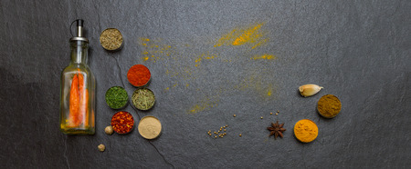 Mixed spices and herbs on background for decorate design. Imagens - 41557029