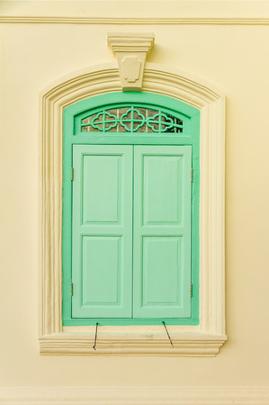 signle: The signle window for design or decorate project take a photo at Phuket town. Stock Photo