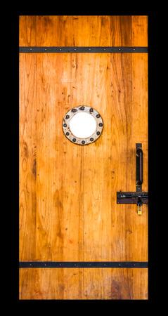 wicket door: The door on black isolate background for design or decorate project.
