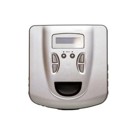 audio player: CD audio player on white isolate