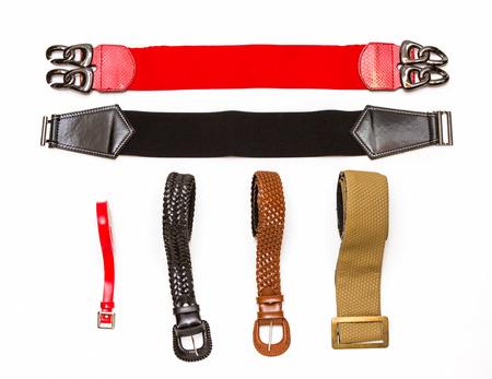 Many Belt on white background for design.