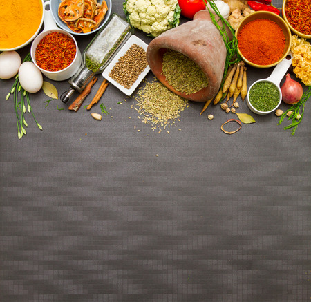 herbs: Spices and herb for cooking and background for design.