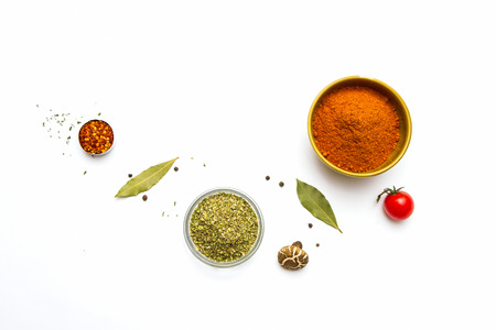 white powder: Food and spices herb for cooking background and design.