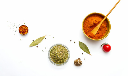 indian food: Food and spices herb for cooking background and design.
