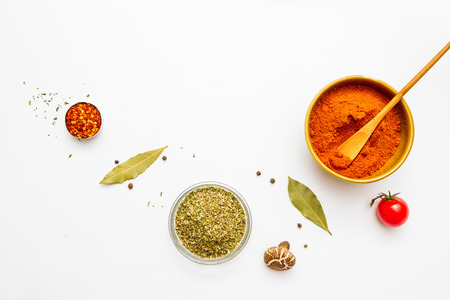 Food and spices herb for cooking background and design. Stock Photo - 42070821