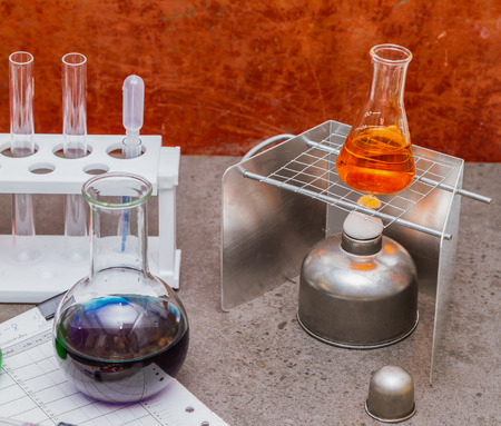 solubility: Group of laboratory.
