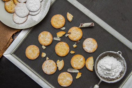 cikolatali: Biscuit for snack on background. Stock Photo