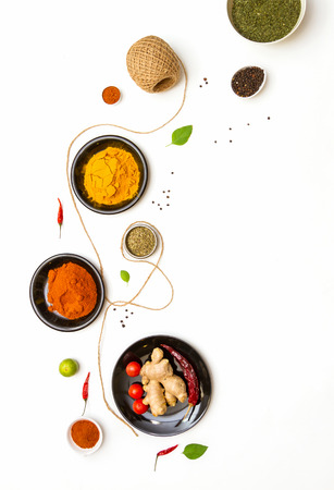 spices for food on background. Stock Photo - 43062778