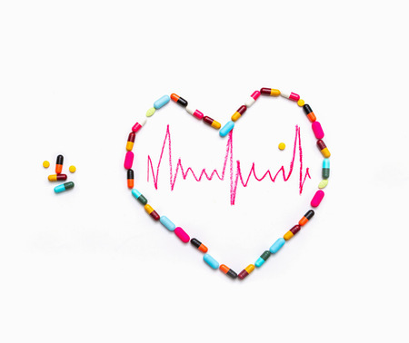 solubility: Medical for heart on white background.
