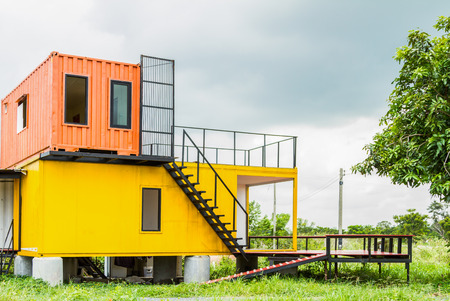 Beautiful Home Exterior for design background. Archivio Fotografico
