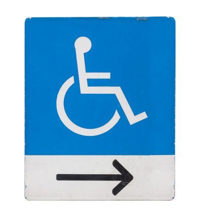 badge holder: A blue and white sign showing a space reserved for disabled blue badge owners only Stock Photo