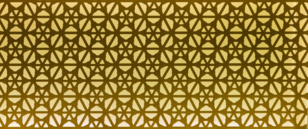 islamic wonderful: Golden light through carved window on background and design. Stock Photo