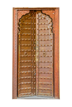 hand crafted: Hand crafted wooden door post at Stone Town Stock Photo