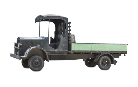 dumptruck: Cargo truck isolated on white isolated background with clipping path. Stock Photo