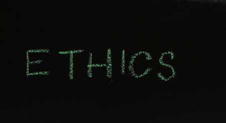 conscience: Writing business concept idea on black board background. Stock Photo