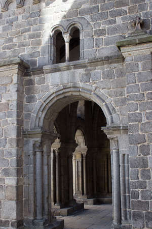 Romanesque-gothic architecture basilica of St. Procopius in Trebic, Czech Republic, Europe 版權商用圖片