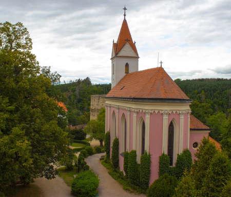 Church of the Bitov Castle in the Czech Republic 新聞圖片