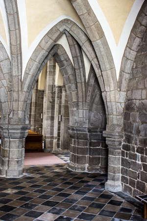 Romanesque-gothic architecture basilica of St. Procopius in Trebic, Czech Republic, Europe 新聞圖片