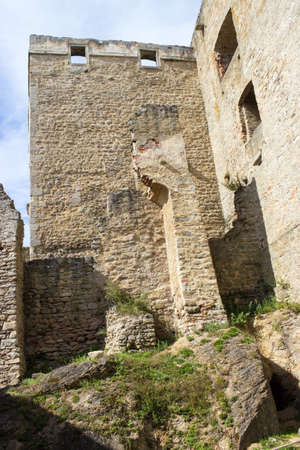 The old historical tower of castle Landstejn in the Czech Republic 新闻类图片