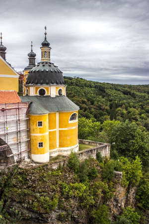 The castle Vranov nad Dyji in the Czech Republic, Vranov dam, Dyje 免版税图像 - 155670376