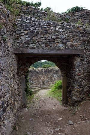 Entrance to the castle Cornstejn in the Czech Republic
