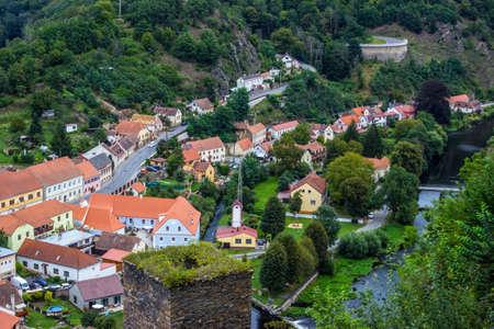 The city Vranov nad Dyji in the Czech Republic, Vranov dam, river Dyje 版權商用圖片