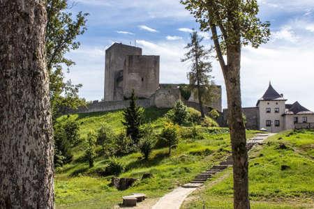 The old historical castle Landstejn in the Czech Republic 新聞圖片