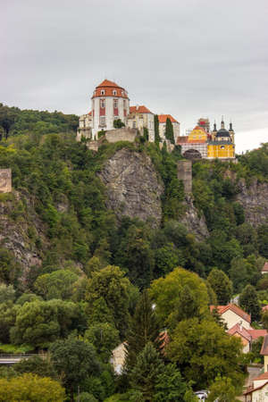 The castle Vranov nad Dyji in the Czech Republic, Vranov dam, Dyje 新聞圖片