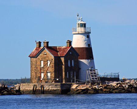 old new york: Execution Rocks Lighthouse Long Island Sound New York
