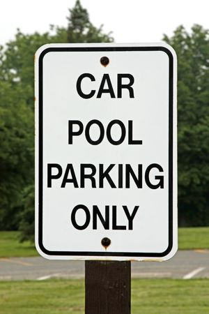 Parking lot sign for car pool parking only Stock Photo