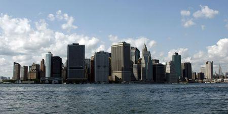 Skyline panorama of New York City - Lower Manhattan