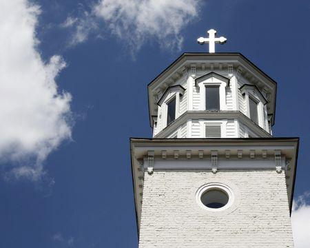 Classic church steeple - Chapel of St. Ignatius Loyola, Alexandria, VA