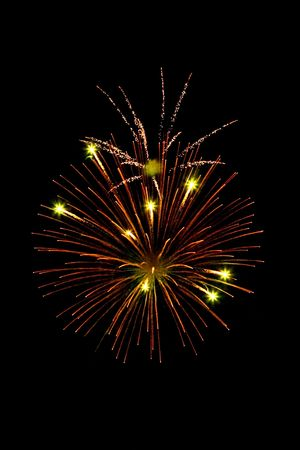 Colorful fireworks isolated against a black night sky Stock Photo - 5711947