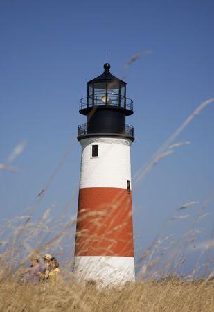 Visit to Sankaty Head Lighthouse through beach grass