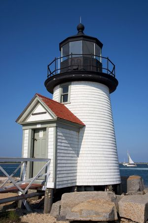 Brant Point Lighthouse Nantucket Stock Photo