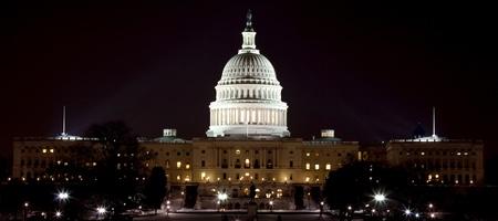 US Capital At Night Stock Photo