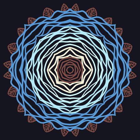 paganism: Mandala. ethnic round Indian Ornament Pattern