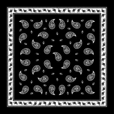 Paisley Bandana simple pattern for textile printing Stock Vector - 42211675