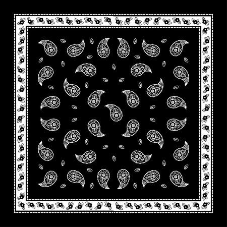 Paisley Bandana simple pattern for textile printing
