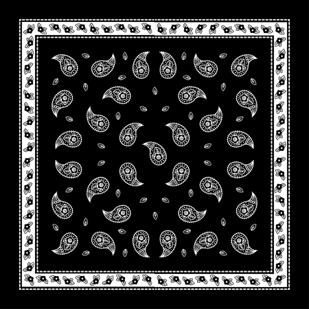 pink floral: Paisley Bandana simple pattern for textile printing