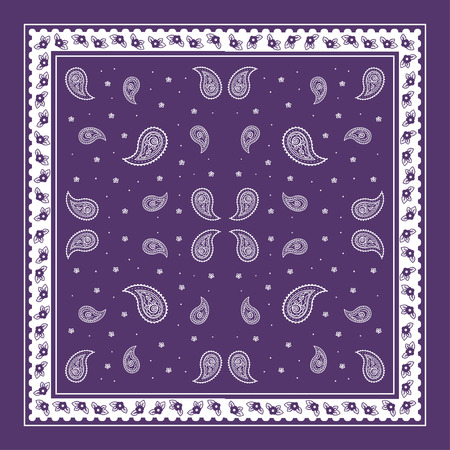 Paisley Bandana simple pattern for textile printing