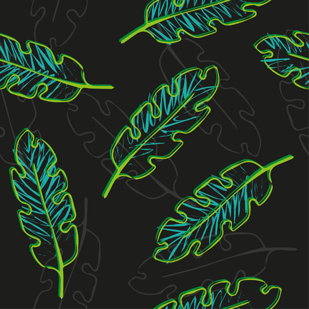 tropical: floral plants pattern. tropical leaves seamless background.