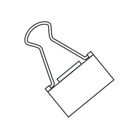 isoleted: contour objects stationery, stationery clip isoleted on white